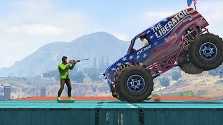 MONSTER TRUCK vs. SNIPERS! (GTA 5 Funny Moments)