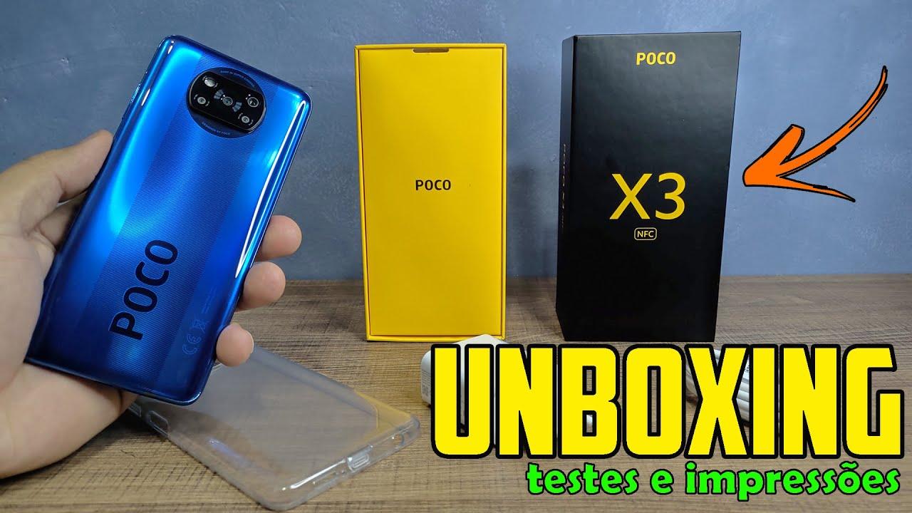 UNBOXING POCO X3 NFC COMPRADO NO ALIEXPRESS - VALEU MUITO A PENA