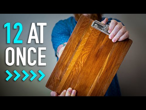 Woodworking Tricks - MAKE CLIPBOARDS IN BULK | Woodworking Projects To Sell