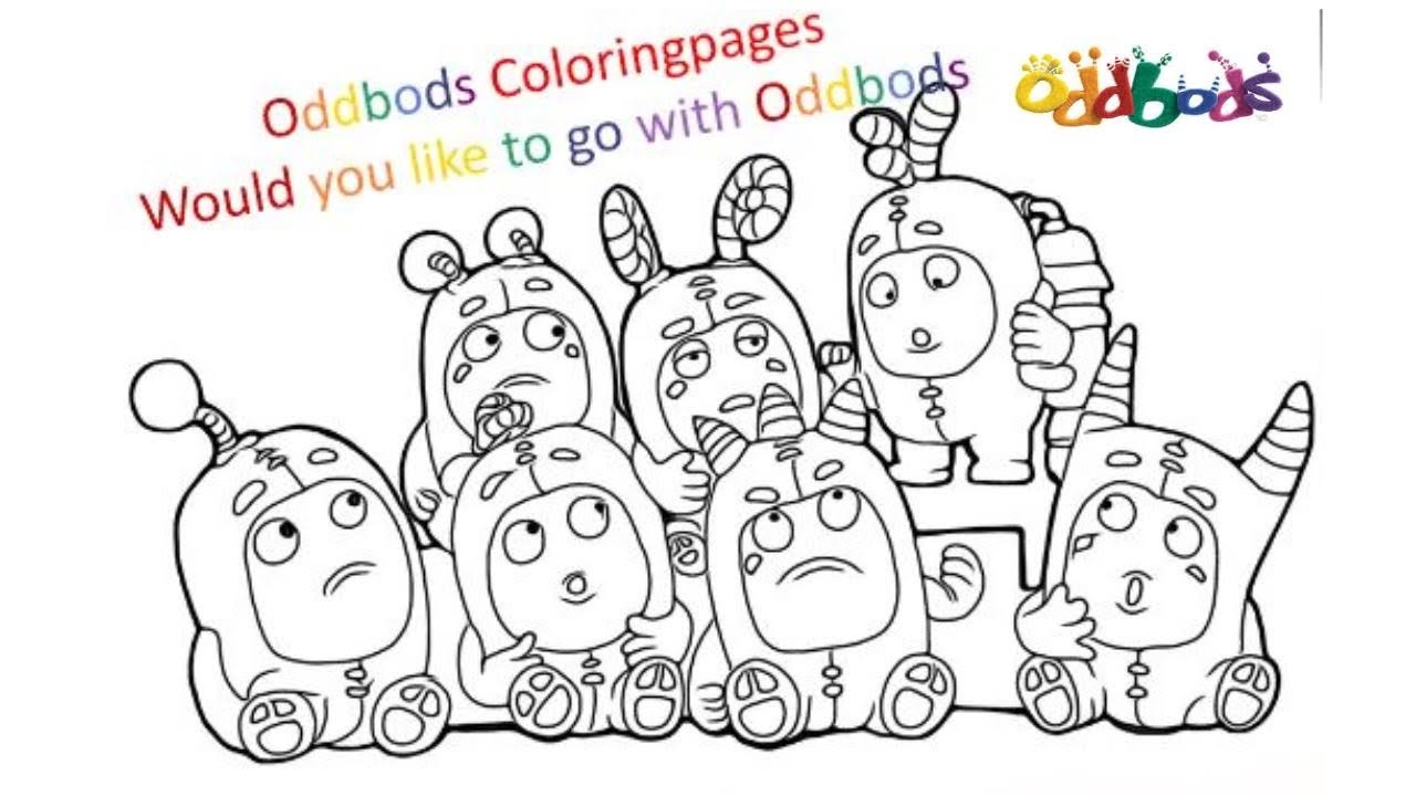 Magical Coloring Box Oddbods Coloringpages Youtube