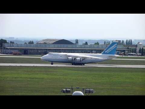 Antonov Design Bureau An-124-100 Ruslan landing at Leipzig-Halle Airport
