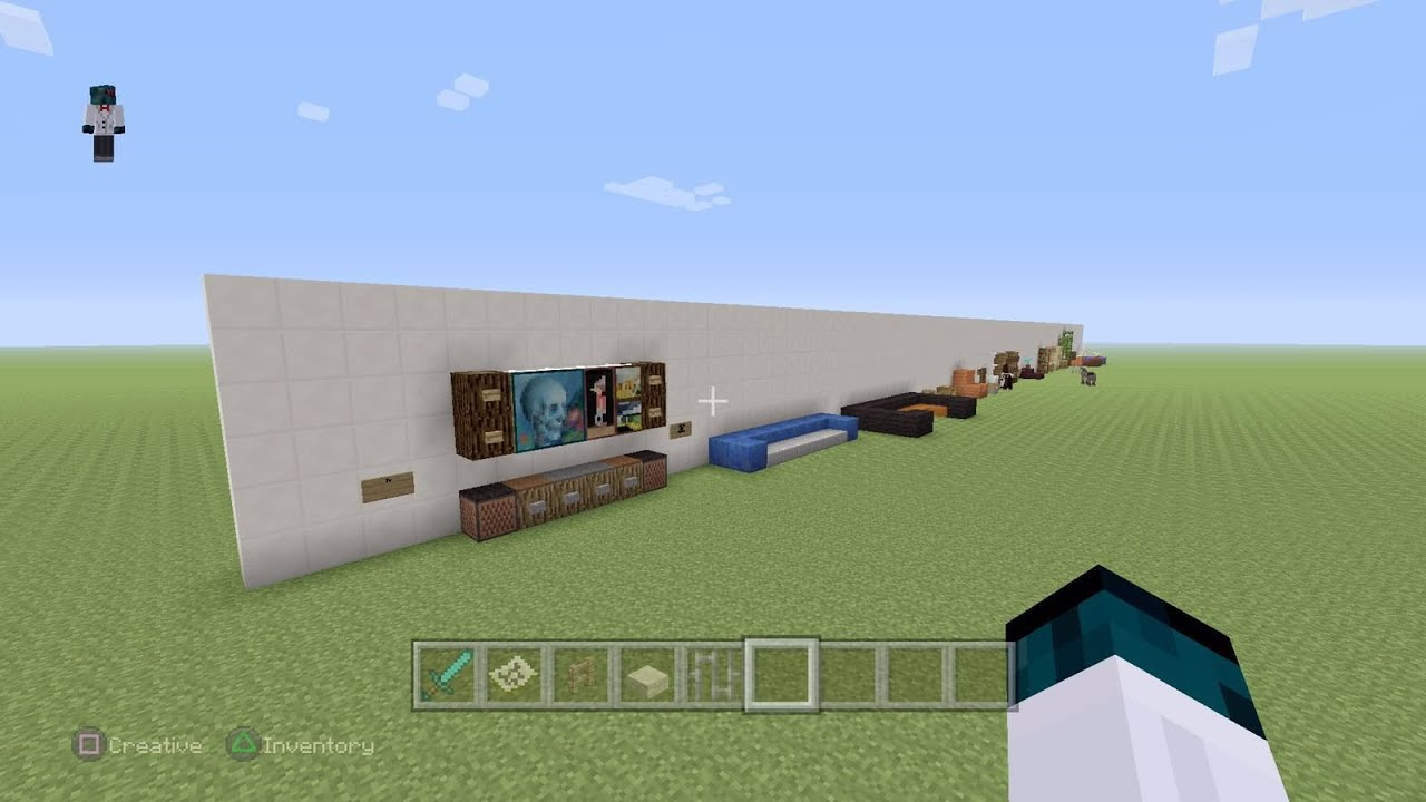Minecraft Living Room Furniture Minecraft Furniture Ideas Living Room Youtube