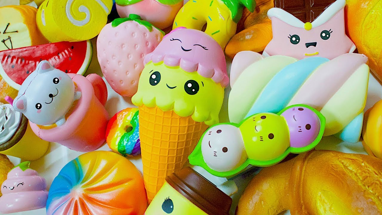 Squishy Collection 2017 : HUGE FOOD SQUISHY COLLECTION 2017 - YouTube