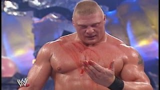 WWE Smackdown 9/18/03 Brock Lesnar vs Kurt Angle Iron Man Match 720p HD