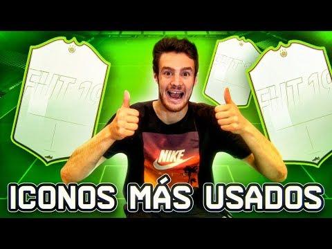 LOS 3 ICONOS MÁS USADOS DE FIFA 19!!