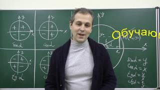 Тригонометрические функции и их знаки - ТРЕЙЛЕР