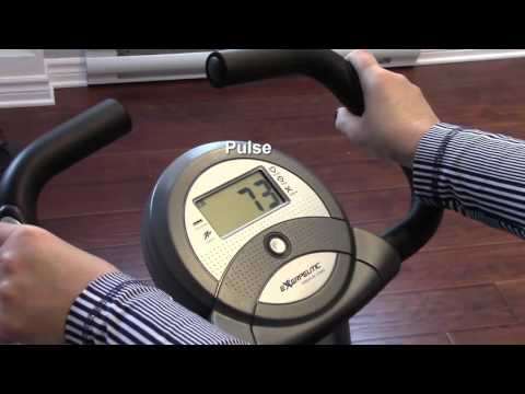 Exerpeutic 1200 Folding Magnetic Upright Bike with Pulse Reviews