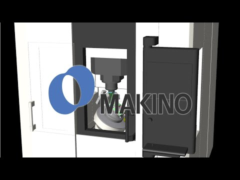 MAKINO D200Z Machine Tool CNC Simulation with NCSIMUL