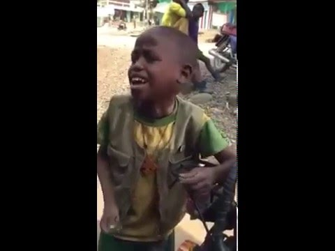 Ethiopian Funny Video: Ethio Kid performing a song አል...ፏል!