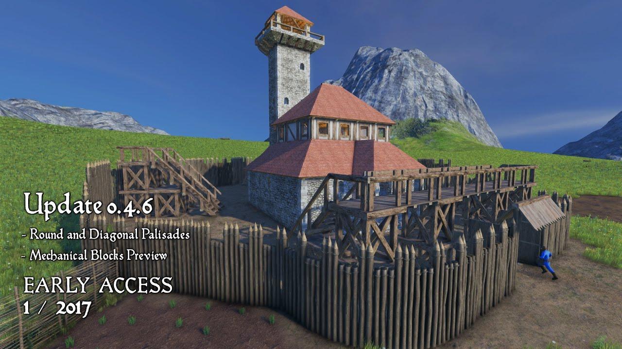 Medieval Engineers Update 046 Round And Diagonal Palisades