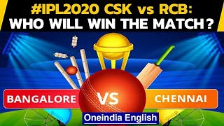 IPL 2020: CSK Vs RCB: MS Dhoni and Co. play for pride against RCB | Oneindia News