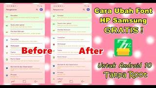 Cara Ganti Font HP Samsung Gratis Terbaru 2020