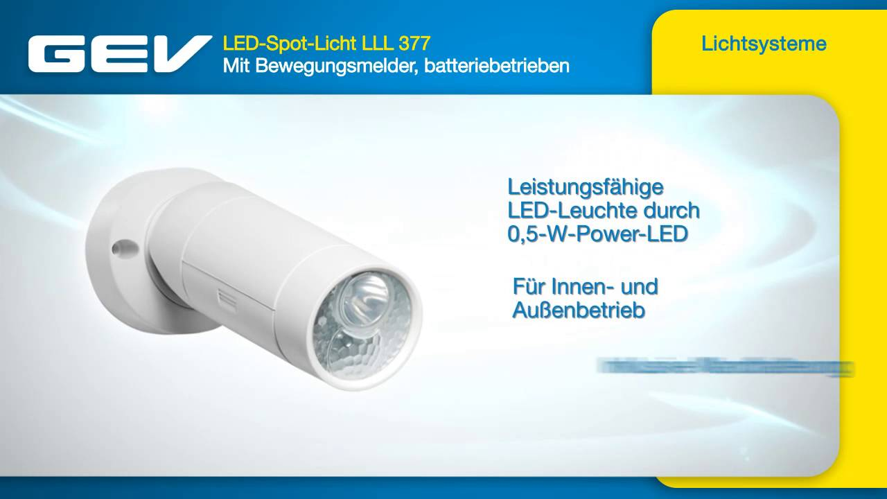 GEV LED-Spot-Licht LLL 377 - YouTube