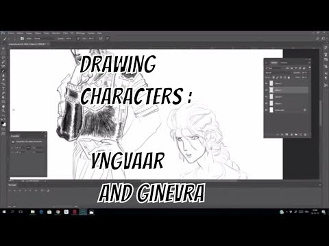 Making a comics - Drawing characters - yngvaar and Ginevra