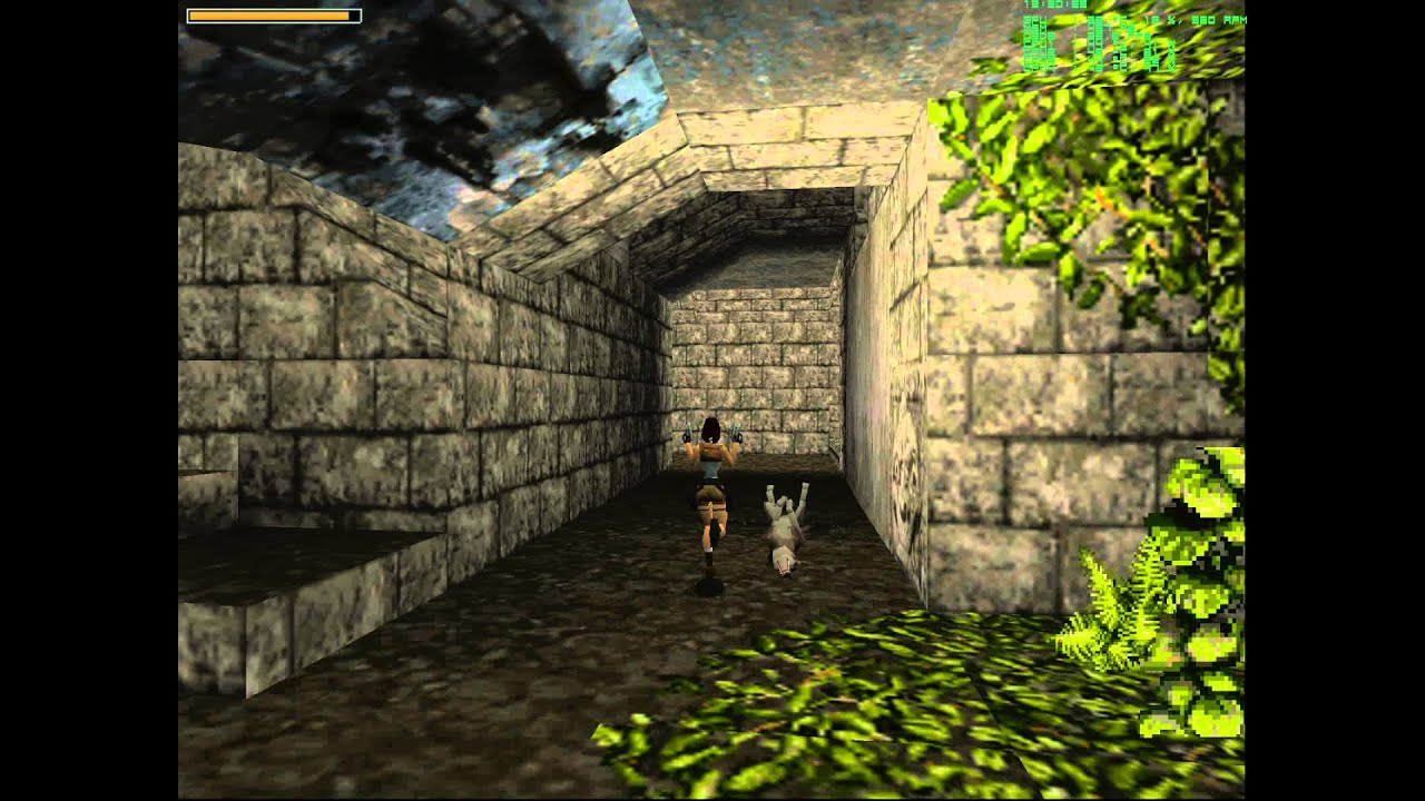 Tomb Raider 1 Gameplay 1996 Dosbox Nglide Youtube