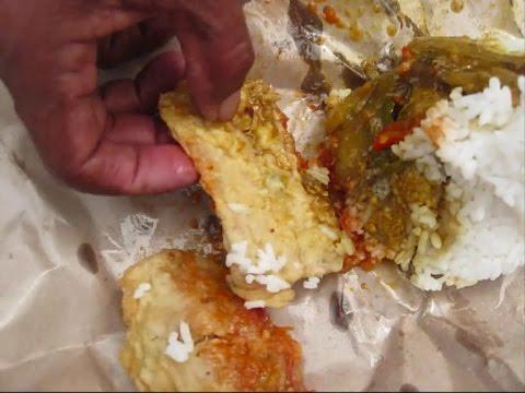 Indonesian Food Review 55 Nasi Bungkus Warteg Br Tivi 2299 Youtube