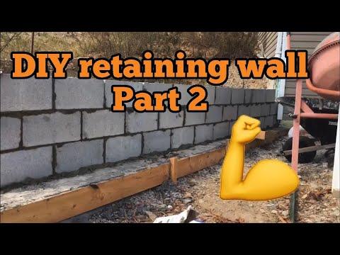 DIY Laying Concrete Block For Retaining Wall