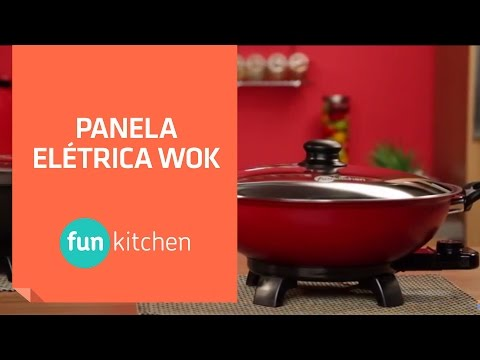 Panela Elétrica Wok Fun Kitchen | Shoptime