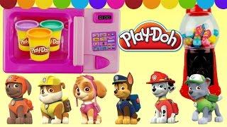 Farben lernen für Kleinkinder deutsch Play Doh Ueberraschungseier Paw Patrol Spielzeuge  KATZ TV