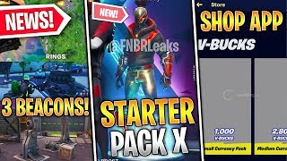 Season X Starter Pack, Item Shop App SUED, 3 Rift Zones, Salty Lake, Mechs! - Fortnite News