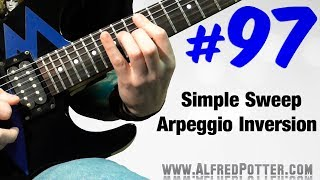 Lick #97 - Simple Sweep Arpeggio Inversion