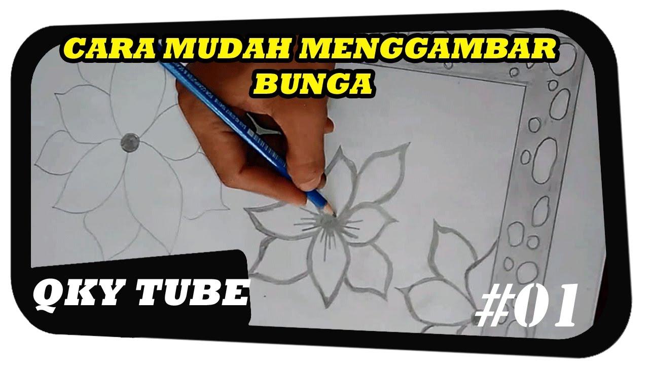Cara  Menggambar  Sketsa  Bunga  Yang Mudah Sobsketsa