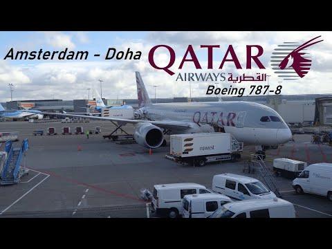 ✈️ FLIGHT REPORT ✈️ Qatar Airways - Amsterdam to Doha - Boeing 787-8