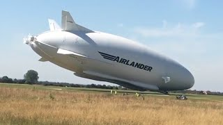 Airlander 10 crash (close-up & slow motion)