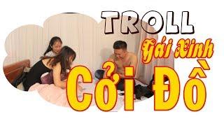 Troll Gái Xinh | Chơi Bài Lột đồ - Chanh Leo tv - Troll Girl Play Puzzles