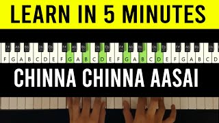Chinna Chinna Aasai Piano Tutorial with Notes | How To Play | Keyboard | Dil Hai Chota Sa | Roja