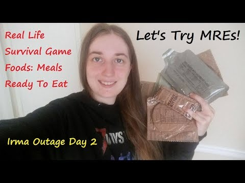 Let's Try MREs Survival Rations! Meals Ready To Eat Food During The Hurricane Irma Outage! Day 2