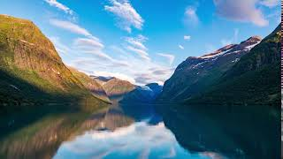 Beautiful Nature Lake Mountains Natural Landscape Accelerated Motion Красивая природа река горы