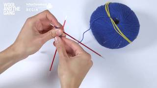 How to knit: cast on using double pointed needles - Wool and the Gang