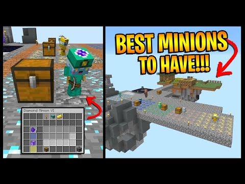 How To Get The BEST MINIONS On Hypixel Skyblock    *UPGRADES
