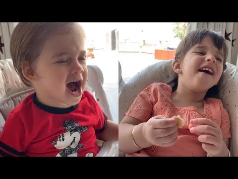 Karan Johar's Twins Roohi & Yash Imitate Each Others Crying Moments | CUTE VIDEO