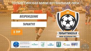 Тольяттинская мини футбольная лига Первый дивизион 5 тур Возрождение Тарантул
