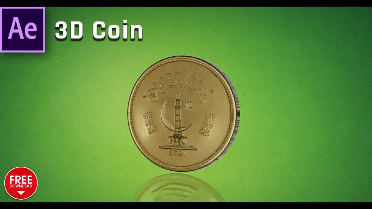 Image To 3D Spinning Coin Animation After Effects Tutorial