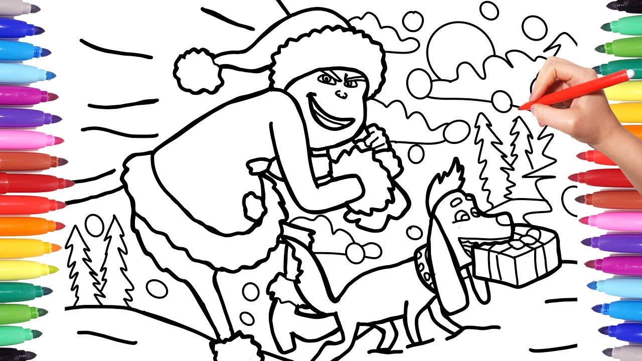 Grinch Coloring Pages, Illumination Grinch Christmas ...
