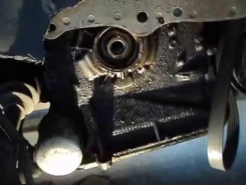 Замена лобового сальника (манжеты коленчатого вала)