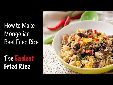 How to make mongolian beef fried rice the easiest fried rice how to make mongolian beef fried rice the easiest fried rice recipe ccuart Images
