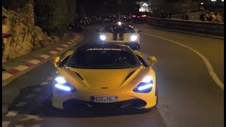 Supercars in Monaco 2018 - P1, 720s, New Vantage, F12TDF, Performante,...