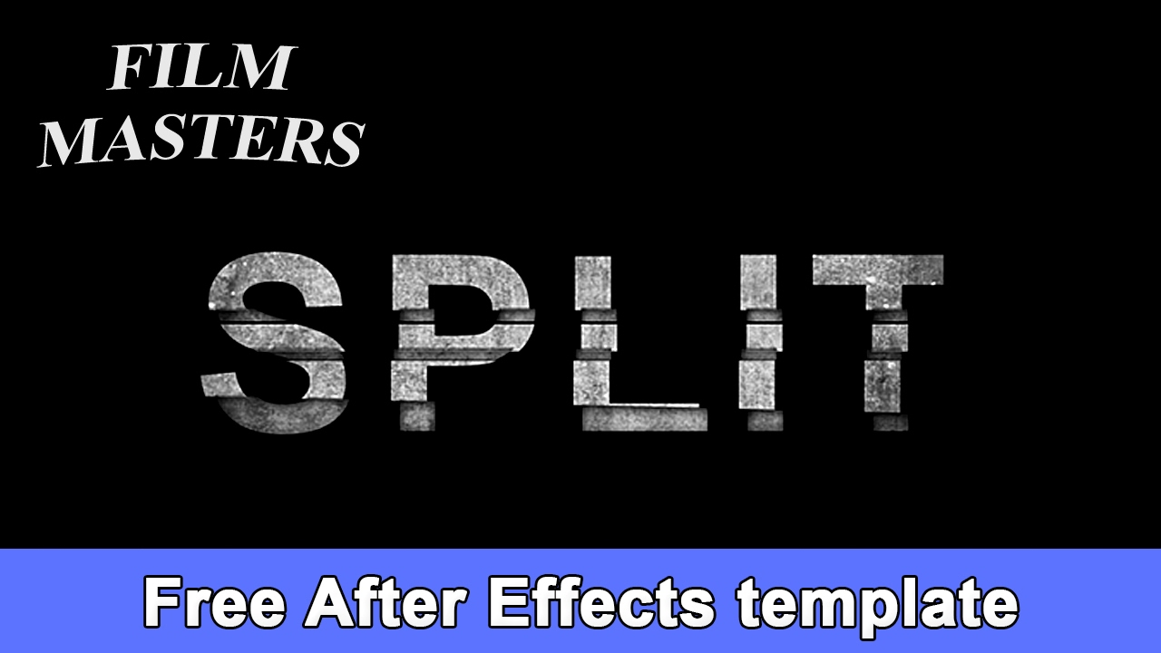 free after effects title templates - after effects title template movie split title free