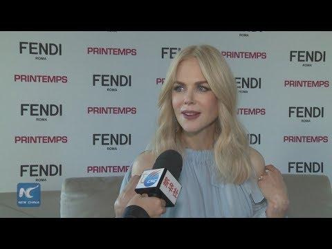 Nicole Kidman unveils Paris Printemps Christmas windows display