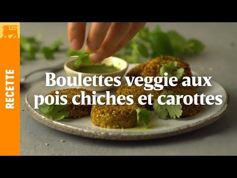 Boulettes veggie aux pois chiches et carottes