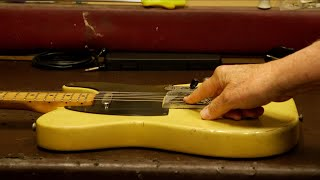 Norman Finds And Opens One Of The Rarest Fender Broadcasters   Serial:# 1803   1950   Refinished
