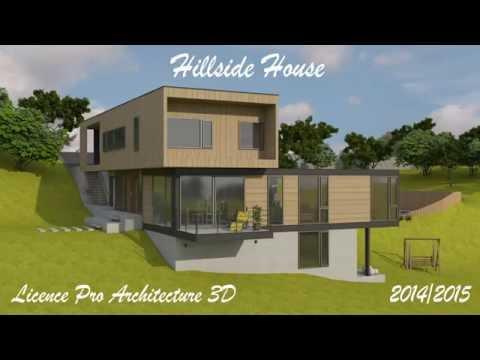 Projet Architecture 3D - Hillside house