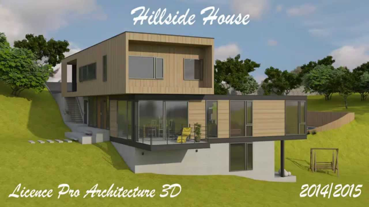 Projet Architecture 3d Hillside House Youtube