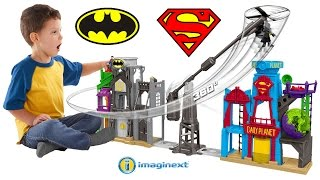 Imaginext Super Hero Flight City Playset Batman Superman Funny Parody Unboxing Play Fisher-Price
