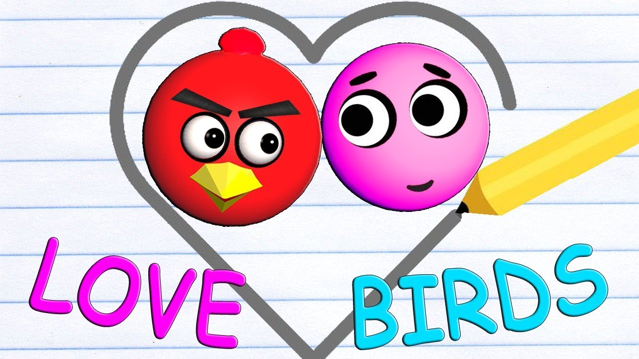 LOVE BALLS with ANGRY BIRDS  ♫  3D animated game mashup  ☺ FunVideoTV – Style ;-))