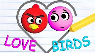 LOVE BALLS with ANGRY BIRDS  ♫  3D animated game mashup  ☺ FunVideoTV - Style ;-))